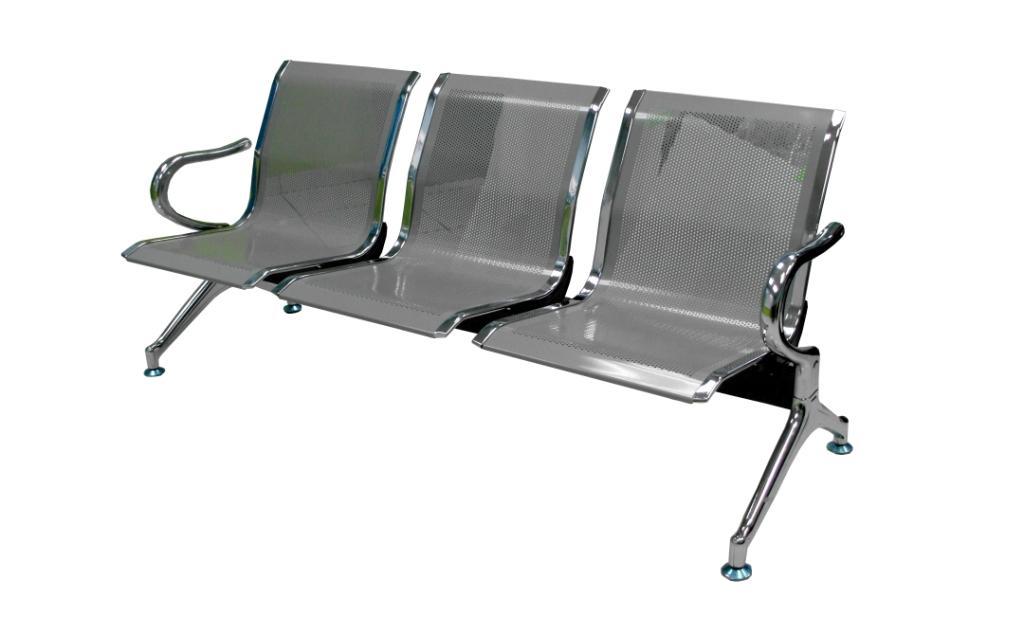 I-AB170-000-RXTH SOFA AIRPORT CROMADO WA3-TH, ASIENTO Y RESPALDO METALICO