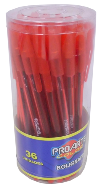 I-LB197-280-0101 BOLIGRAFO PROARTE PROJECT DISPLAY PVC 36 UNID ROJO 25452-5