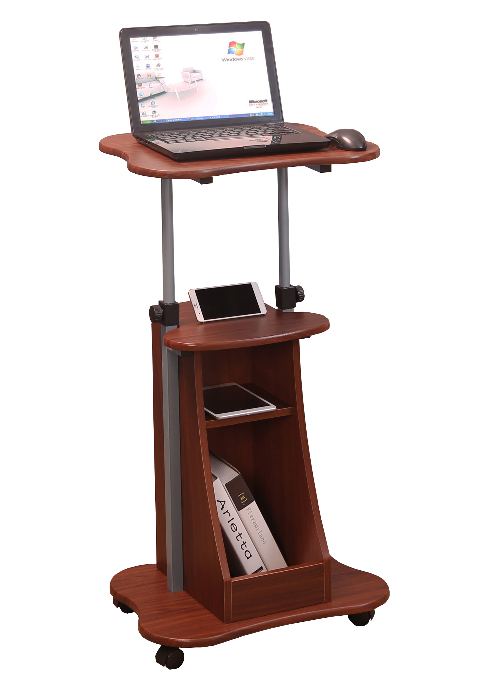 I-AP154-001 MESA STANDING WORKSTATION D3002 LIGTH WALNUT