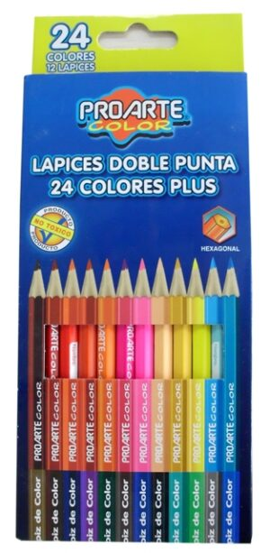 I-LB194-130-0300 LaPICES DE COLOR PROARTE PLUS 12 COL 24 UNID DOBLE PUNTA 28569-2